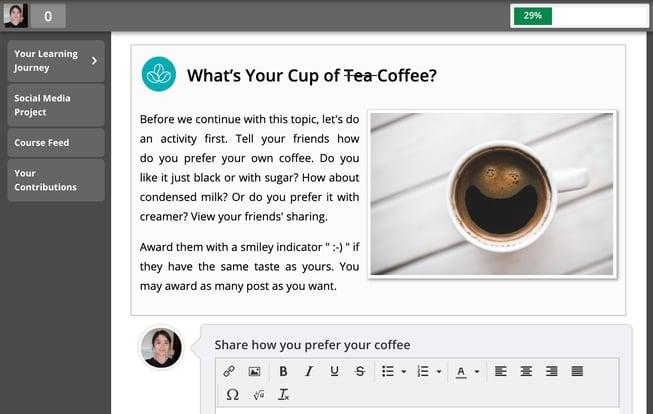 Favourite Coffee Engage and Enhance Shaliza