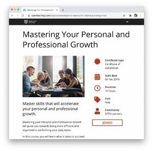 Mastering Growth Landing Page