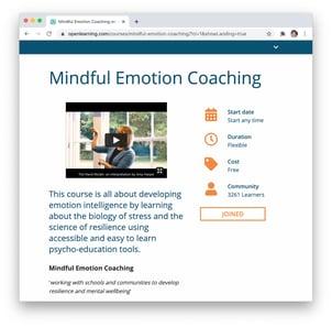 Mindful Emotion Landing Page