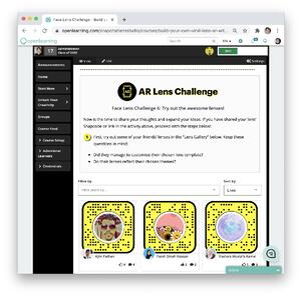Snapchat Lens Activity