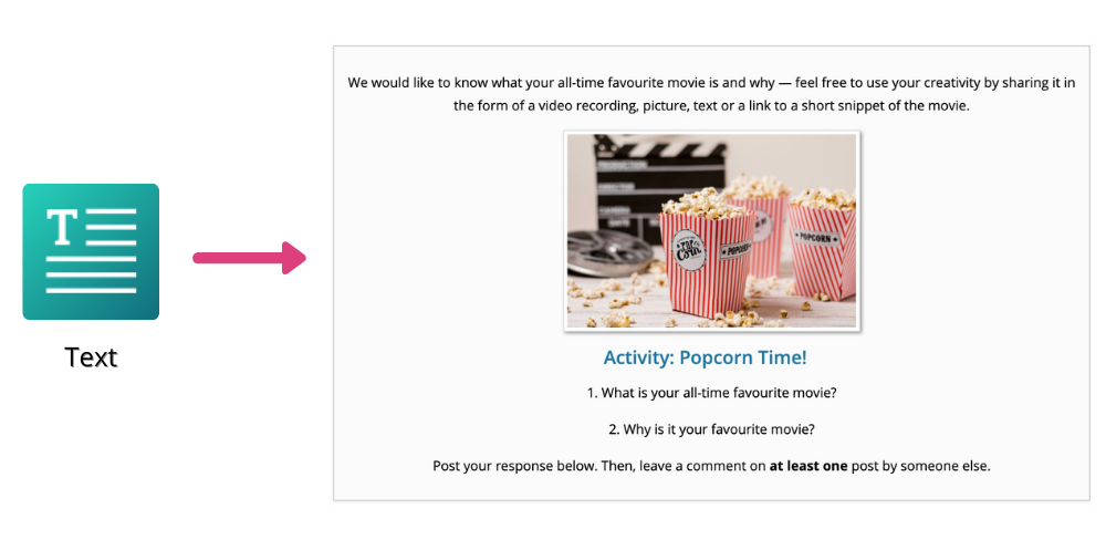 Popcorn Time OpenLearning icebreaker activity step 1